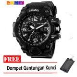 Toko Skmei Jam Tangan Ad1155 Black White Free Dompet Gantungan Kunci Jawa Timur