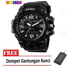 Harga Skmei Jam Tangan Ad1155 Black White Free Dompet Gantungan Kunci Lengkap