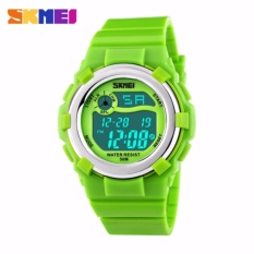 SKMEI Jam Tangan Anak Digital Children Sport Rubber LED Watch Anti Air Water Resistant WR 50m DG1161 Tali Strap Karet Lentur Alarm Wristwatch Wrist Watch for Kids Fashion Accessories Waterproof Nyaman Stylish Lucu Design Unik - Hijau