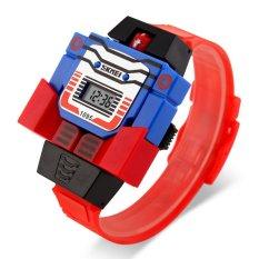SKMEI - Jam Tangan Anak - Merah - Rubber Strap - DG1095 Robot Digital Watch