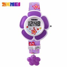 Skmei Jam Tangan Anak Perempuan Digital Children Girl Fashion Rose Digital Watch DG1144 Unik Lucu Design - Ungu