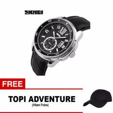 Harga Skmei Jam Tangan Analog Pria 1135Cl Silver Black Free 1X Topi Adventure Lengkap