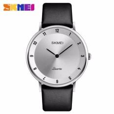 Review Skmei Jam Tangan Analog Pria Pu Leather 1263 Skmei Original Jam Tangan Pria Original Silver