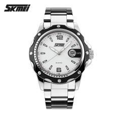 Daftar Harga Skmei Jam Tangan Analog Strap Stainless Steel 0992C White Black Skmei