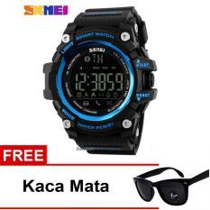 SKMEI Jam Tangan Bluetooth - 1227 - Black Blue + Free Kacamata