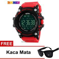 SKMEI Jam Tangan Bluetooth - 1227 - Red + Free Kacamata