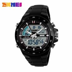 Harga Skmei Jam Tangan Digital Analog Ad1016 Black Satu Set
