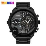 Harga Skmei Jam Tangan Digital Analog Jumbo Ad1170 Black Yang Bagus