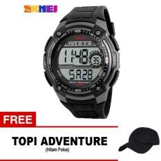 Beli Skmei Jam Tangan Digital Pria Dg1203 Black Free 1X Topi Adventure Seken