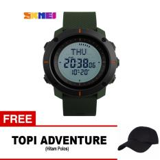 Review Toko Skmei Jam Tangan Digital Pria Dg1216Cm Army Green Free 1X Topi Adventure Online