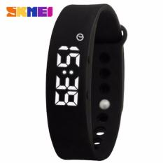 SKMEI Jam Tangan LED Gelang Fitness Tracker W05  Gym Sport Running Pedometer - Black