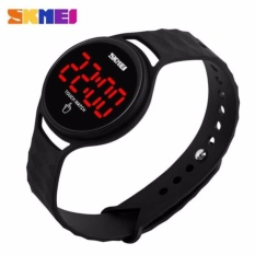 Beli Skmei Jam Tangan Led Touch Wanita 1230A Tali Karet Silicone Strap Water Resistant Anti Air Wr 30M Sport Fashion Casual Ladies G*rl Watch Hitam Seken
