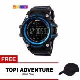 Toko Skmei Jam Tangan Olahraga Smartwatch Bluetooth Dg1227 Bl Black Free 1X Topi Adventure Online Terpercaya
