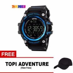 Beli Barang Skmei Jam Tangan Olahraga Smartwatch Bluetooth Dg1227 Bl Black Free 1X Topi Adventure Online