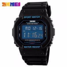 Toko Skmei Jam Tangan Pria Digital Sport Rubber Led Watch Water Resistant 50M Dg1134 Tali Karet Silicone Hitam Lengkap Dki Jakarta