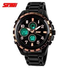 SKMEI Jam Tangan Pria Jam Tangan Analog Digital Casio Men Sport LED Watch Water Resistant 30m AD1021 - Hitam