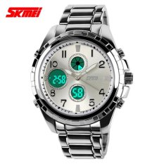 Tips Beli Skmei Jam Tangan Pria Jam Tangan Analog Digital Casio Men Sport Led Watch Water Resistant 30M Ad1021 Silver Yang Bagus