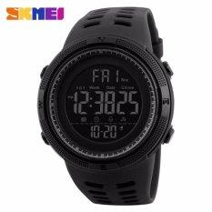 SKMEI Jam Tangan Pria Jam Tangan Analog Stopwatch Countdown Alarm Date EL Light Chrono DG1251 - Hitam