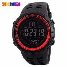 SKMEI Jam Tangan Pria Jam Tangan Analog Stopwatch Countdown Alarm Date EL Light Chrono DG1251 - Hitam Merah