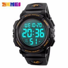 Spesifikasi Skmei Jam Tangan Pria Jam Tangan Digital Sporty Day Date Alarm Water Resist Dg1258 Hitam Gold Terbaru