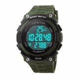 Harga Skmei Jam Tangan Pria S Shock Sport 3D Pedometer Wristwatch 1112 Green Terbaik