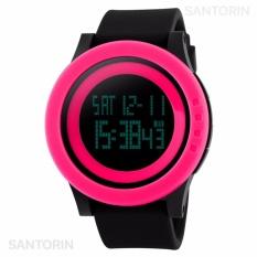 Kualitas Skmei Jam Tangan Pria Wanita Fashion Sport Led Digital Men Lady Water Resistance Watch Pink Skmei