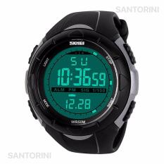 Jual Skmei Jam Tangan Pria Wanita Sports Fashion Military Digital Men Women Wrist Watch Silver Murah