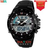 Spesifikasi Skmei Jam Tangan Skmei Pria Olahraga Tahan Air Analog Digital Led Multifungsi Waterproof Sports Men Watch