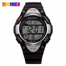 Jual Skmei Jam Tangan Sport Anak Led Watch Water Resistant 50M Dg1077 Hitam Putih Branded Original