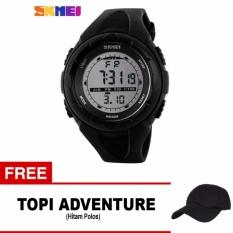 Spek Skmei Jam Tangan Sport Digital Wanita Dg1074 Black Free 1X Topi Adventure