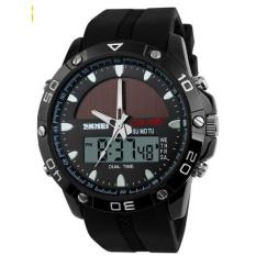 Toko Skmei Jam Tangan Sport Pria Solar Power Sport Led Watch Water Resistant 50M Ad1064E Hitam Online Dki Jakarta