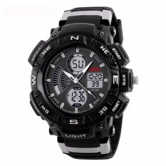 SKMEI Jam Tangan Sporty Men Sport Analog LED Watch Water Resistant 50m AD1211 - Hitam