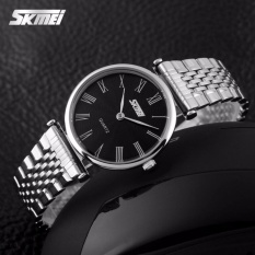 Beli Skmei Jam Tangan Wanita Fashion Watch 9105Cs Water Resistant Anti Air Wr 30M Casual Ladies Steel Strap Tali Besi Accessories Trendy Model Baru Silver Hitam Skmei Murah