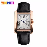 Situs Review Skmei Jam Tangan Wanita Fashion Watch Water Resistant Anti Air Wr 30M Casual Ladies Leather Strap Tali Kulit 1085Cl Accessories Square Trendy Model Baru Hitam