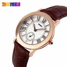 Skmei Jam Tangan Wanita Fashion Watch Water Resistant Anti Air Wr 30M Casual Ladies Leather Strap Tali Kulit 1083Cl Accessories Trendy Model Baru Coklat Murah