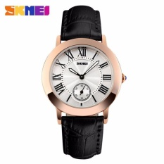 SKMEI Jam Tangan Wanita Fashion Watch Water Resistant Anti Air WR 30m Casual Ladies Leather Strap Tali Kulit 1083CL Accessories Trendy Model Baru - Hitam