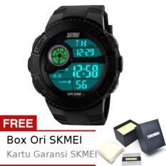 SKMEI Juggler Hitam - Jam Tangan Pria - Strap Karet - 1027 Sport Black + Free BOX ORI SKMEI