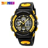 Jual Skmei Olahraga Militer Tahan Air Jam Tangan Dual Tampilan Led Digital Quartz Watches 1163 Kuning Ori