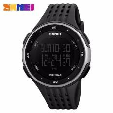 Harga Skmei Man Sport Led Watch Water Resistant 50M Dg1219 Hitam Silver New