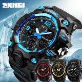 Harga Skmei Pria Digital Double Time Alarm Watch Pria Sport Outdoor Chronograph Shock Led Led Militer Tahan Air Watch 1155B Origin