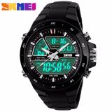 Beli Skmei Men Dual Time Digital Analog Sport Led Watch Water Resistant Wr Anti Air 50M Dt Ioig Jam Tangan Pria Strap Mika Pu Casual Military Multifunctional Wristwatch K054 Hitam Murah