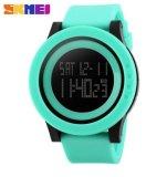 Harga Skmei Pria Militer Olahraga Watches Fashion Silikon Tahan Air Led Digital Watch Pria Clock Hijau Skmei