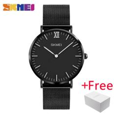 Spesifikasi Skmei Pria Quartz Watches Fashion Business Luxury Brand Ultra Tipis Jam Tangan 30 M Tahan Air Pria Blaus Masculino 1181 Baru