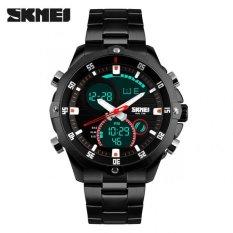 Beli Skmei Men Sport Analog Led Watch Water Resistant 50M Ad1146 Black Black Skmei Asli