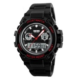Harga Skmei Men Sport Led Watch Water Resistant 30M Jam Tangan Sport Led Ad1217 Black Red Box Original Skmei Baru