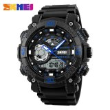 Skmei Men Sports Watches 50M Waterproof Wristwatches Fashion Dial Outdoor Electronic Quartz Digital Watch 1228 Blue Intl Skmei Diskon 30