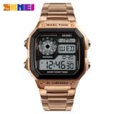 Harga Skmei Pria Olahraga Watches Menghitung Mundur Tahan Air Watch Stainless Steel Fashion Digital Jam Tangan Pria Jam 1335 Intl Yang Bagus