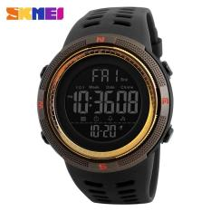 Harga Skmei Pria Olahraga Watches Countdown Double Time Watch Alarm Chrono Digital Jam Tangan 50 M Tahan Air Watches 1251 Hitam Coklat Emas New