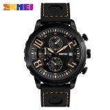 Toko Skmei Pria Olahraga Watches 30 M Tahan Air Kalender Quartz Wristwatches Silicone Strap Watch 9153 Kuning Termurah Di Tiongkok