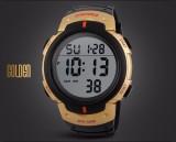 Spesifikasi Skmei Pria Wanita Digital Lcd Lampu Tahan Air Tanggal Alarm Militer Olahraga Watch Emas Merk Skmei